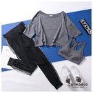Catworld 晨光幻彩。BRA背心加上衣長褲運動套裝三件組【16600487】‧S-XL