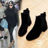 短靴 新款春秋季高跟鞋韓版女百搭粗跟裸靴