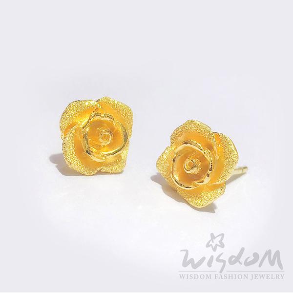 威世登 黃金花型貼耳式耳環 金重約1.14~1.16錢 GF00460-FXX-FIX