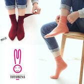 中筒襪 糖果色 捲邊 堆堆襪 顯瘦 襪子【KCTWZ02】 BOBI  03/09