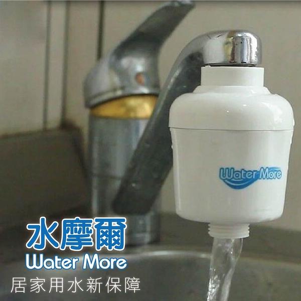 去除颱風後的消毒水味-水摩爾廚房沐浴兩用除氯過濾器(1入附轉接頭+餘氯測試液) 有效除氯率97.4%