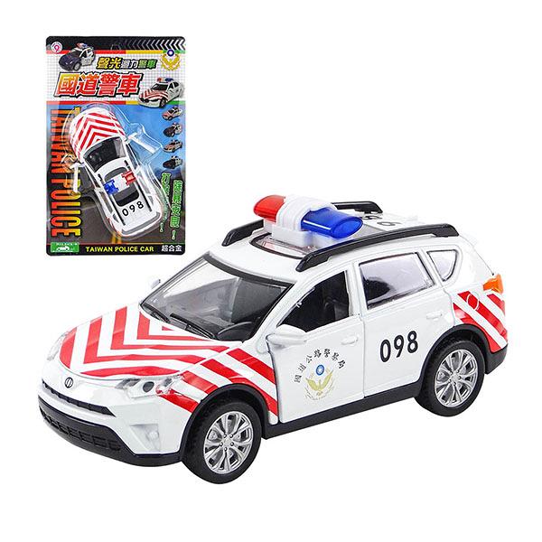 【888便利購】1:32 合金SUV休旅台灣國道警車模型(聲光迴力車門可開)(ST)