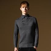 長袖針織衫-時尚獨特翻領造型男針織毛衣73ik51【時尚巴黎】