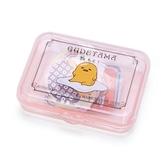 〔小禮堂〕蛋黃哥 日製造型貼紙組附盒《粉.坐姿》40枚入.裝飾貼.黏貼用品 4901610-03766