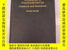 二手書博民逛書店introduction罕見to thermodynamics