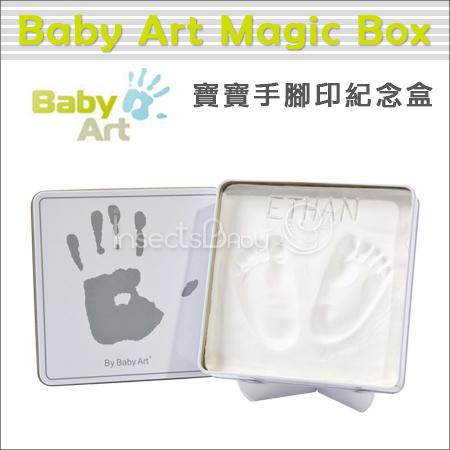✿蟲寶寶✿【比利時Baby Art Magic Box】寶寶手腳印紀念 / 手腳膜 - 方形魔術紀念盒