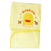 【奇買親子購物網】黃色小鴨夏季雙層兩用被(藍色)