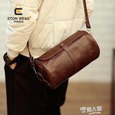 皮革斜背包 新款單肩斜挎包小垮包男女挎包皮革小包個性便捷手機包 9號潮人館