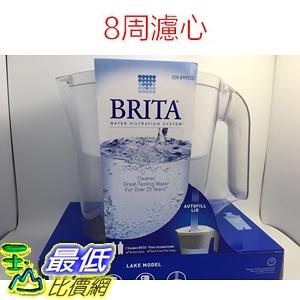 [現貨] Brita Lake (最高容量4L) 2.4L 新型白色 10杯 濾水壺 (含2支8周圓形濾心) 可過濾151公升