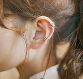 耳環 925純銀耳骨夾無耳洞男女通用情侶U型耳夾日韓國假耳環超酷耳骨釘 雲雨尚品