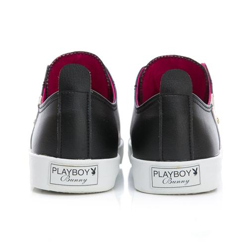 PLAYBOY百變Punk 鉚釘水鑽個性餅乾鞋-黑