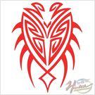 00266151-2  雕刻貼 盾牌圖形/紅款 單入