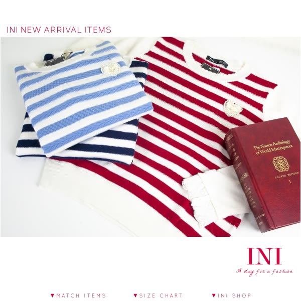 【INI FASHION】麻花紋設計款針織上衣.三色
