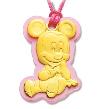 迪士尼系列金飾-寶寶黃金鎖片音樂盒-吉祥米奇款