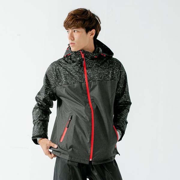 君邁雨衣,邁邁不積水前項導流兩件式風雨衣,黑
