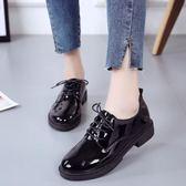 黑色小皮鞋女2018新款秋季百搭韓版學生原宿英倫風女鞋平底單鞋潮