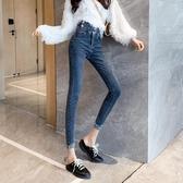 牛仔褲 網紅高腰顯瘦牛仔褲女2019年新款秋裝修身百搭直筒褲鉛筆小腳褲子