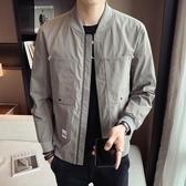外套男春秋2020新款男裝韓版潮流棒球領男士夾克 休閒時尚短款上衣  降價兩天