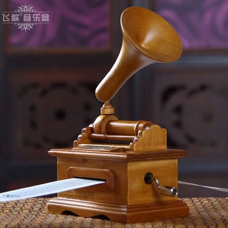 復古手搖紙帶譜曲留聲機音樂盒 diy八音盒生日禮物創意禮品男女生【時尚家居館】