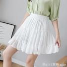 短裙 半身裙女夏2021年新款時尚白色百褶裙高腰顯瘦百搭防走光a字短裙 618購物節
