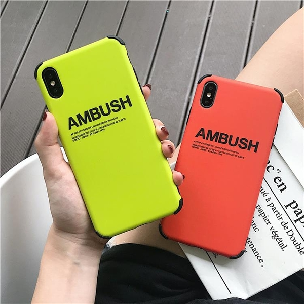 蘋果x手機殼創意AMBUSH英文防摔角iPhone11pro/xs max/xr6/7/8plus全包硅膠6s網紅情侶P軟殼i