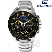 EDIFICE CASIO / EFR-540RB-1A Infiniti Red Bull Racing聯名款三環不鏽鋼腕錶 黑色x金色 45mm