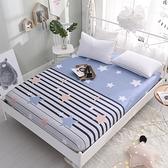 限定款單床包/雙人棉質床包全棉席夢思保護套防塵罩床單單件床墊罩床罩120X200公分床保潔墊