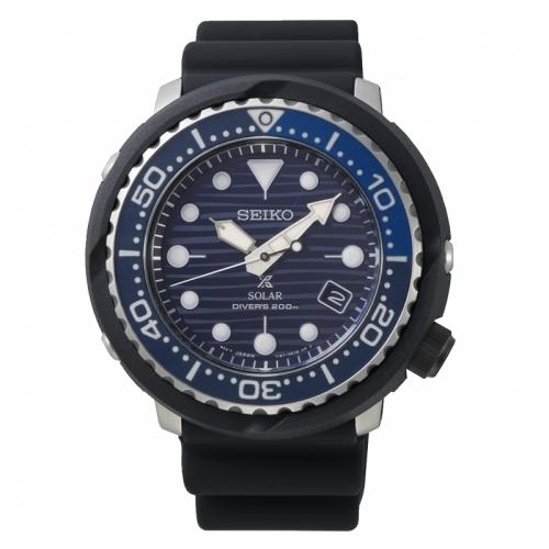 SEIKO PROSPEX愛海洋太陽能潛水橡膠腕錶/V157-0CX0A/SNE518P1
