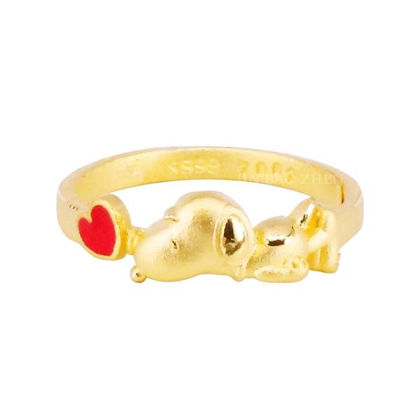啾啾史努比-黃金戒指-SNOOPY