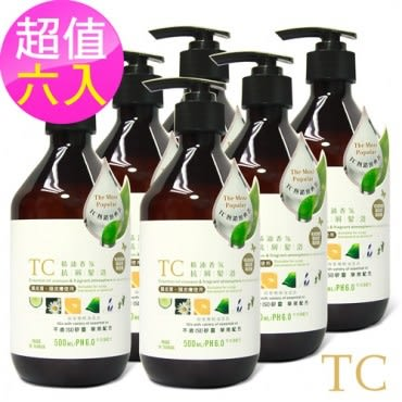 【TC】精油香氛抗屑髮浴 6入組(500ml)