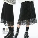 【KOMI】雙層兩面穿蕾絲針織毛線長裙‧二色 (1823-710655)