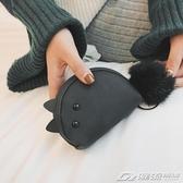 可愛少女萌繫零錢小包包新款磨砂倉鼠錢包女手拿鑰匙包個性潮   潮流前線