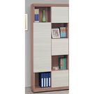 【森可家居】雪杉白雙色隔間書櫃(左向) 8SB234-3 無印北歐風 書櫥 木紋質感 MIT台灣製造