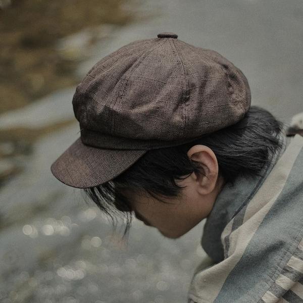 日繫復古文藝百搭八角帽男夏季薄款英倫報童帽貝雷帽畫家帽潮帽子 韓國時尚週