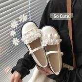 lolita鞋炒可愛~日系lolita洛麗塔花邊單鞋女學生軟妹圓頭小皮鞋少女lo鞋 衣間迷你屋
