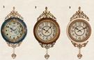 歐式掛鐘客廳靜音家用時鐘創意牆壁鐘錶田園大氣裝飾石英擺鐘
