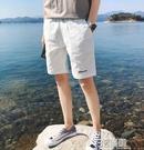 短褲男2021夏季薄款白色純棉男士沙灘褲外穿寬鬆運動休閒五分褲潮 3C優購