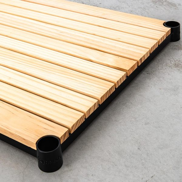 收納架/置物架/層架【配件類】90x45cm 松木烤漆黑層板 _原木色  dayneeds