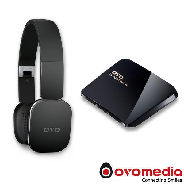 OVO 電視盒 B01S 4K升級版 + H1 藍牙追劇耳機 (黑/白兩色供選擇)