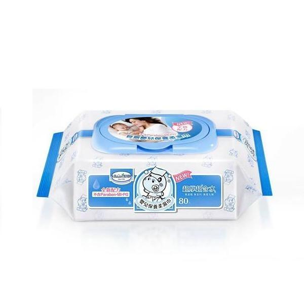 貝恩-Baan EDI超純水柔濕巾濕紙巾-超厚80抽(24包) 1350元(無法超商取件)