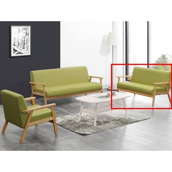 沙發 QW-208-11 亞克二人座綠色布沙發【大眾家居舘】