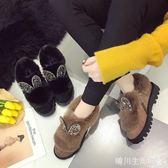 雪地靴女2018新款短筒棉鞋女冬季女鞋加絨保暖學生韓版百搭短靴 晴川生活館