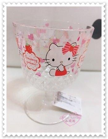 ♥小花花日本精品♥ Hello Kitty 壓克力杯 塑膠杯 粉色 蝴蝶結 小熊 蛋糕 香檳杯造型11204107