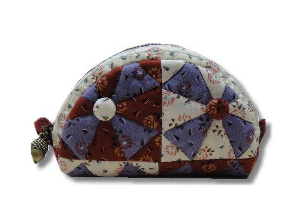 手工拼布包-花麗-零錢包--樣樣精品 都是唯一