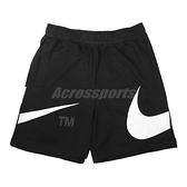 Nike 短褲 Sportswear Swoosh 男款 黑白 棉褲 大勾勾 運動褲 【ACS】 DD5998-010