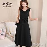 短袖洋裝 2021款春夏季新款裙子很仙小眾連身裙女裝中長裙韓版時尚打底裙