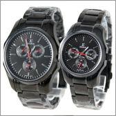 【萬年鐘錶】SIGMA日系 三眼時尚對錶 1018MB-1018BB-B