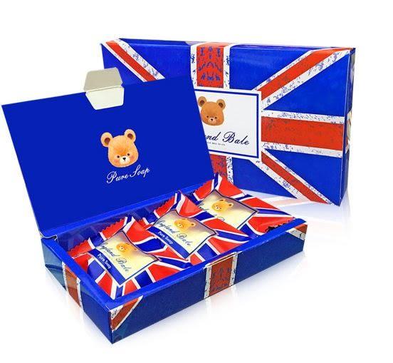 英國貝爾抗菌香皂禮盒3入 (國旗款) 喝茶禮盒 結婚用品 婚禮用品【皇家結婚用品百貨】