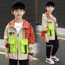 時尚休閒男童外套 男孩工裝男童外套 風衣潮流外套 男童外套韓版外套 秋季中大童百搭夾克外套