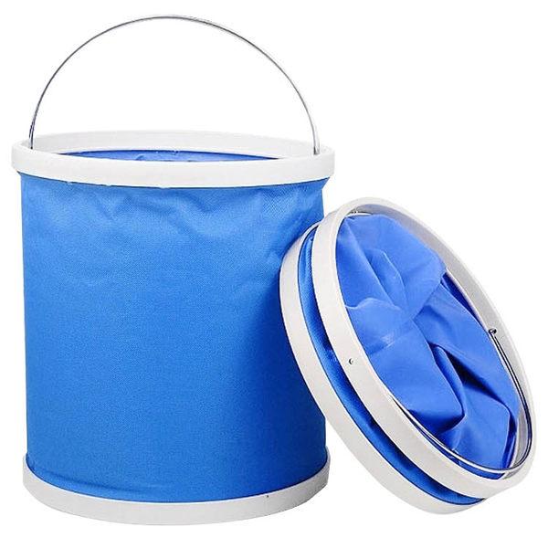 折疊式帆布水桶 11公升 戶外折疊水桶 洗車水桶 釣魚水桶 伸縮折疊水桶【C105】